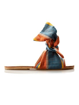 Brother Vellies - Burkina Papaye Stripe Sandal - Women