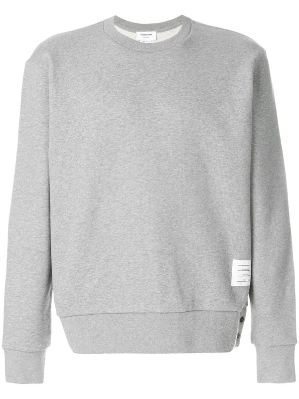 f9252414ad7 Thom Browne - Tri-stripe Bar Crewneck Sweatshirt Light Grey - Men