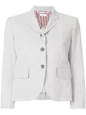 Thom Browne - Striped Short Blazer - Women