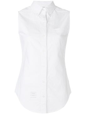 Thom Browne - Sleeveless Button-up Shirt White - Women