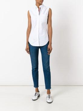 Thom Browne - Sleeveless Button-up Shirt - Women