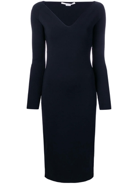 V-neck midi dress INK