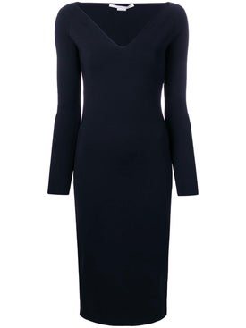 Stella Mccartney - V-neck Midi Dress Ink - Women