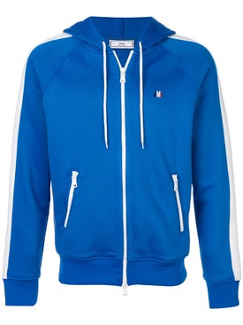 Ami Alexandre Mattiussi - Zip Up Hoodie Royal Blue - Men