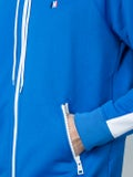 Ami Alexandre Mattiussi - Zip Up Hoodie Royal Blue - Men