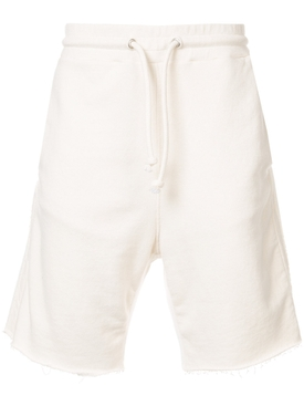 drawstring fitted shorts WHITE