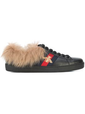 Gucci - Ace Sneaker With Fur Black - Men