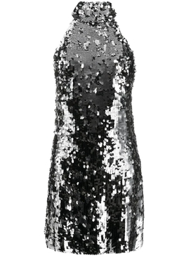 Galvan - Silver Sequin Gemma Dress - Women