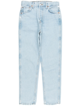 Re/done - Light Blue 50s Cigarette Jeans - Women