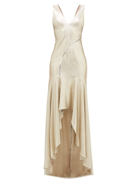 Pale Gold Relevé Gown