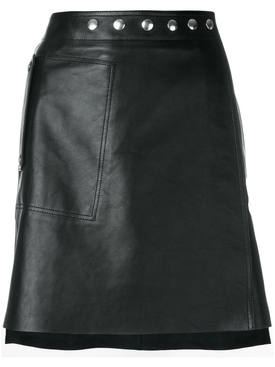 studded waistband skirt