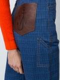 J.w. Anderson - Grid Printed Denim Trouser - Women