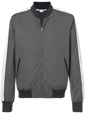 two-tone zipped bomber jacket GREY
