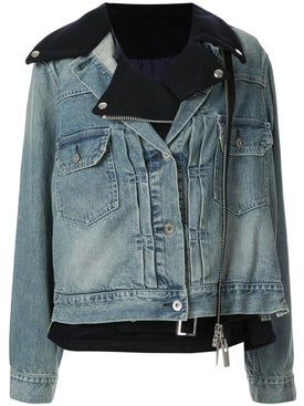 Sacai - Double Layer Denim Jacket - Women