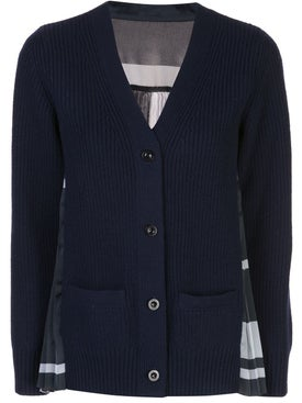 Sacai - Navy Wool Cardigan - Women