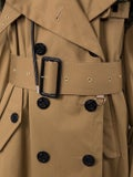 Sacai - Brown Cotton Double-breasted Trench Coat - Women