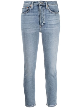 high rise ankle crop jeans Mid 90's Blue