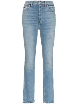 Double needle skinny jeans