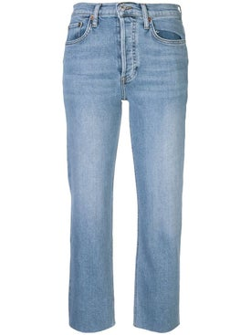 Re/done - Stone Blue High Rise Jean - Women