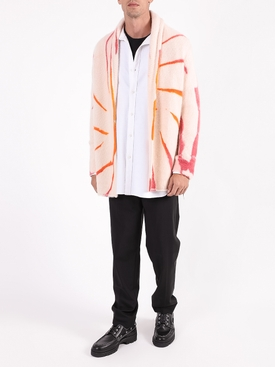 Multicolored tie-dye jacket MAROON/ORANGE