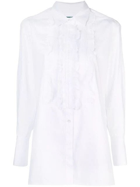 ruffled front bib shirt