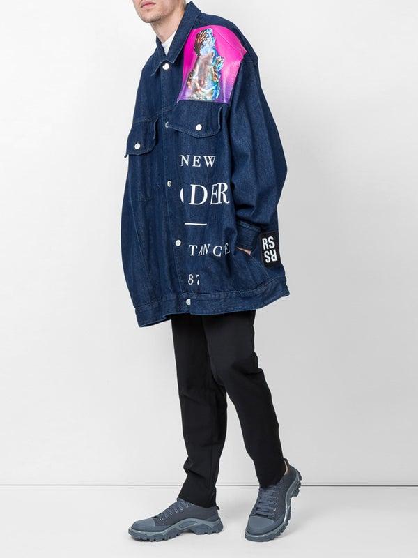 cd1fe44b74a Raf Simons x New Order printed denim jacket