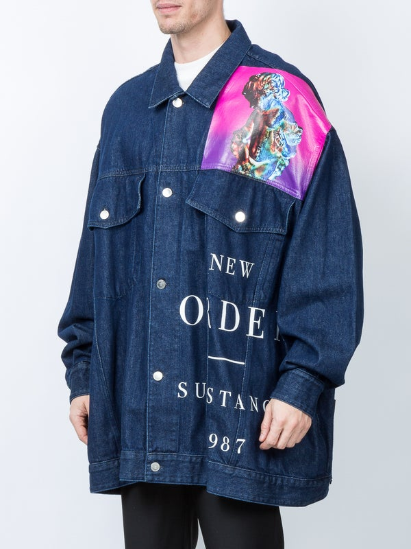 ed70349cee1 V logo denim jacket
