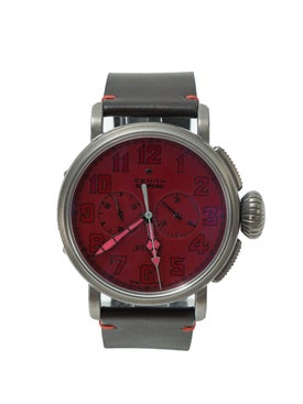 Bamford Watch Department - Red Zenith Type 20 Chrono 'ton Up' - Men