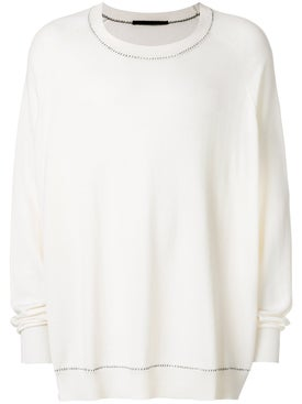 Haider Ackermann - Contrast Stitching Jumper White - Men
