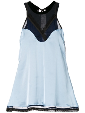 camisole layer blouse BLUE