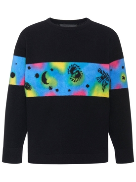 The Elder Statesman - Galactic Dye Rambler Sweatshirt - Men