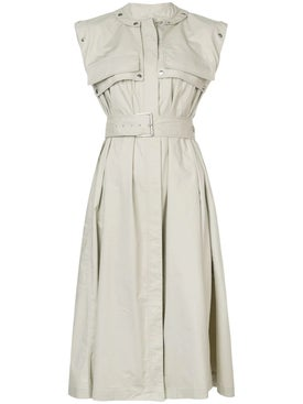 Proenza Schouler - Belted Trench Dress - Mid-length