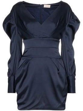 Alexandre Vauthier - Ruched Sleeve Mini Dress - Long-sleeve