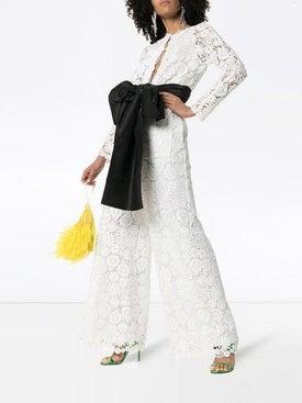 Rosie Assoulin - Floral Lace Jumpsuit - Jumpsuits