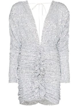Attico - Sequin-embellished Ruched Mini-dress - Women