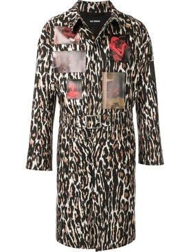 Raf Simons - Leopard Print Coat Brown - Men