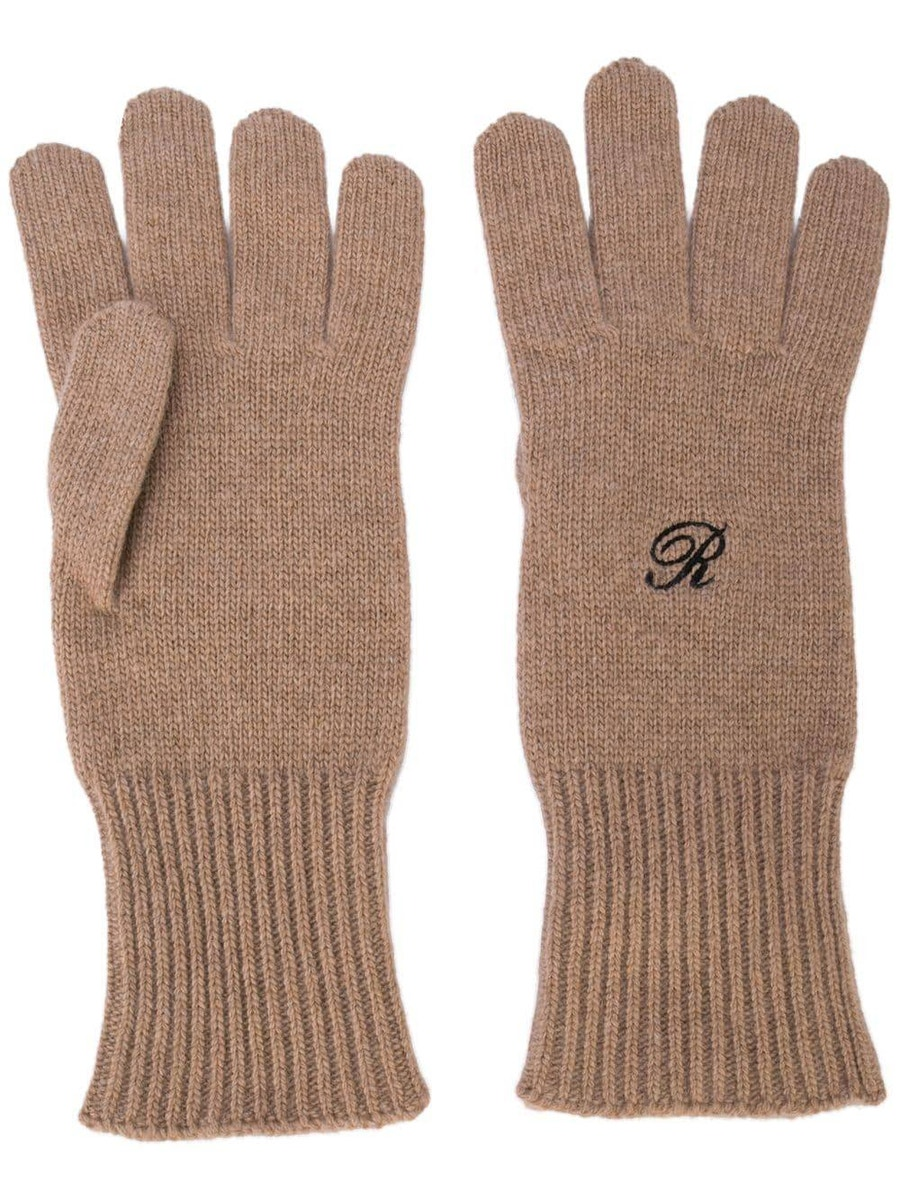Raf Simons Gloves Logo knit heroes gloves
