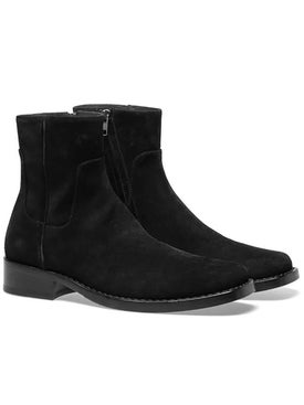 Raf Simons - Suede Leather Squared Ankle Boots - Men