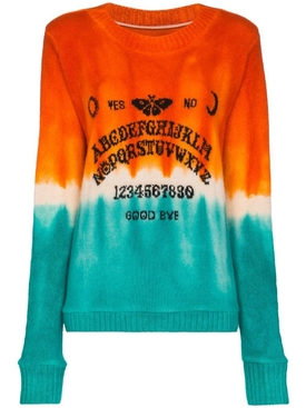 Orange and turquoise dip dye sweater