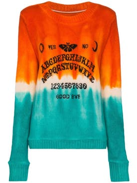 The Elder Statesman - Orange And Turquoise Dip Dye Sweater - Men