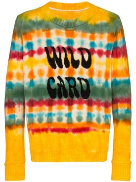 The Elder Statesman - Wild Card Wacky Dye Sweater - Men