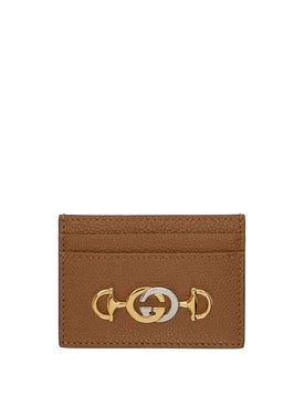 Gucci - Gucci Zumi Card Case Taupe - Women