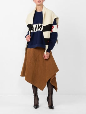 Sonia Rykiel - Star Colorblock Slogan Intersia Knit Cape - Women