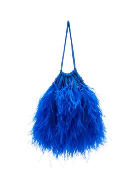 Attico - Ostrich Feathers Embellished Bag - Women