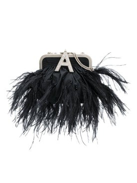 Attico - Black Feather Embellished Doctor Bag - Women