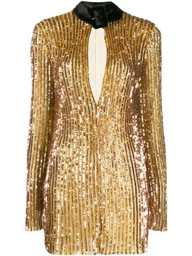 Attico - Gold Sequined Mini Dress - Women