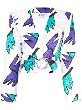 Attico - Cropped Printed Blouse - Women