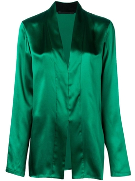 metallic blouse GREEN