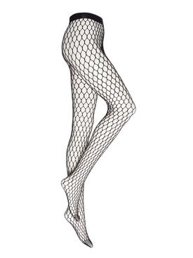 X Amina Muaddi Crystal Net Tights black