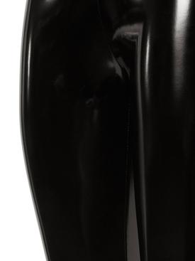 X Amina Muaddi Latex Stirrup Black